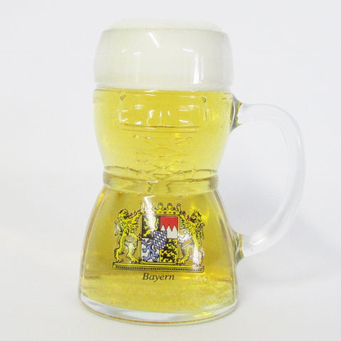 Bayern Dirndl .5L Glass Beer Mug