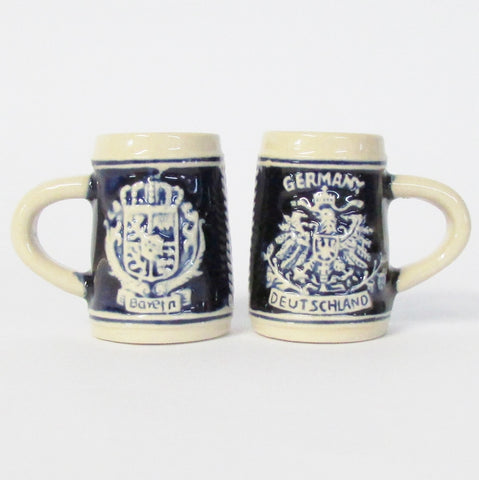 Blue Bayern German Mini Stein Shot Glass