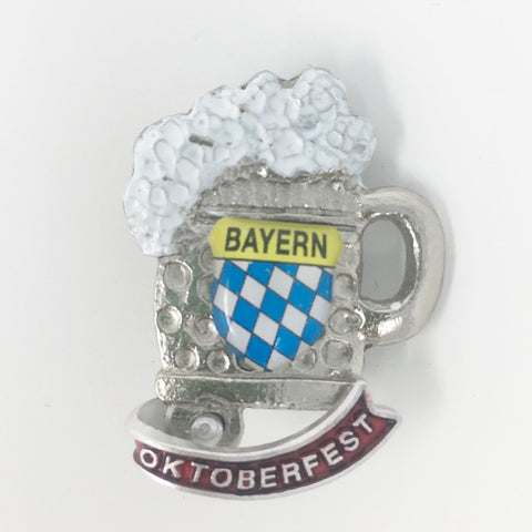 Bayern Beer Mug 3D Oktoberfest 1.25in Hat Pin