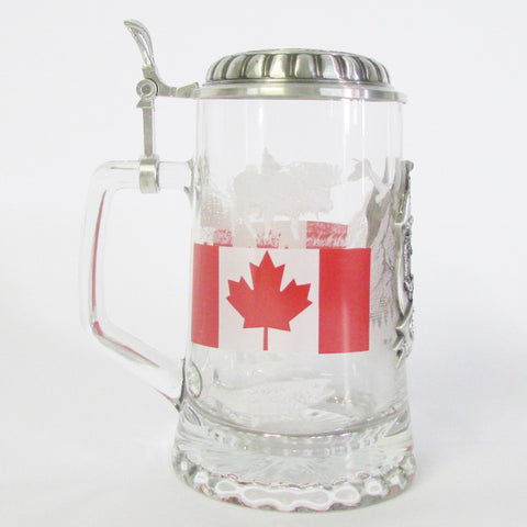 Canada Heritage .5L Glass Beer Stein