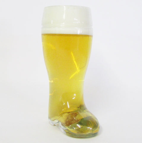 1L Authentic German Glass CLEAR Beer Boot