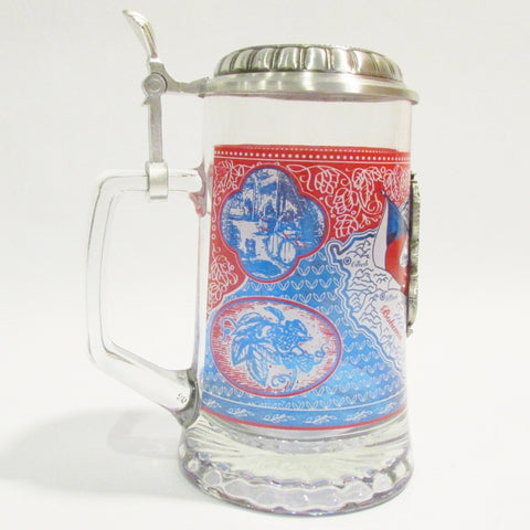 Czech Heritage .5L Glass Beer Stein
