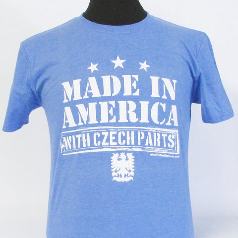 Made in America with Czech Parts Heather Royal T-Shirt