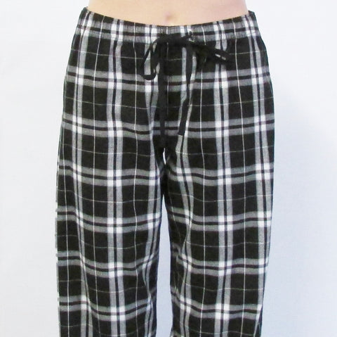 DUPA Flannel LADIES FIT Black Pajama Pants