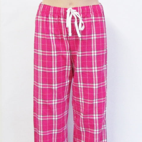 DUPA Flannel LADIES FIT Pink Pajama Pants