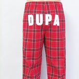 DUPA Flannel UNISEX FIT Red Pajama Pants