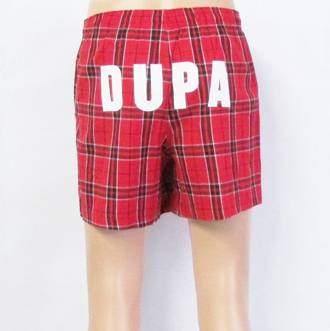 DUPA Flannel UNISEX FIT Red Pajama Boxers