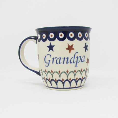 Dziadek Polish Grandpa Coffee Cup Mug_Polish Pottery