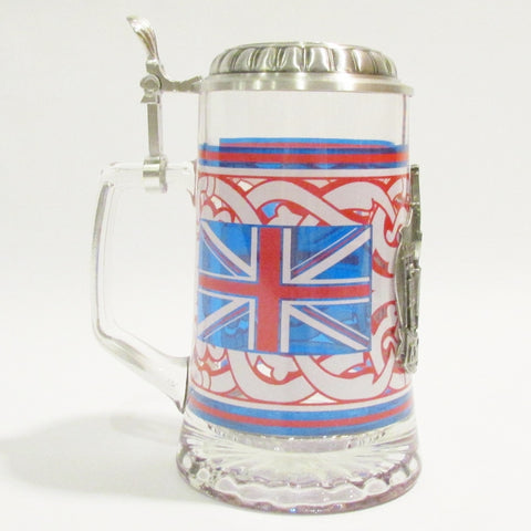 England Heritage .5L Glass Beer Stein