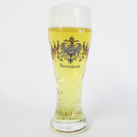 Deutschalnd Flags .5L Twisted Beer Glass
