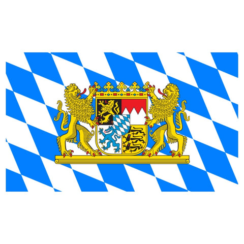Bavarian Crest_Bavaria Flag_German Flag 3'x5'