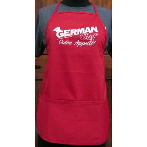 German Chef Apron - Red