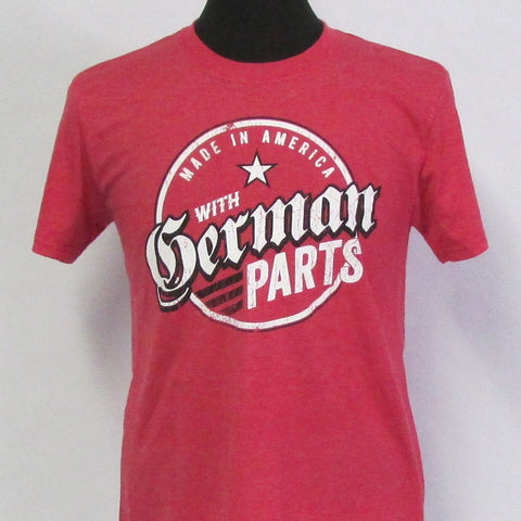 German Parts Emblem - Heather Red