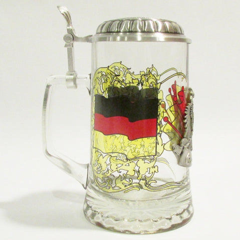 Germany Heritage .5L Glass Beer Stein
