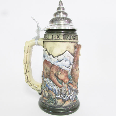 Glory of the Grizzly Bear Rustic .75L Beer Stein