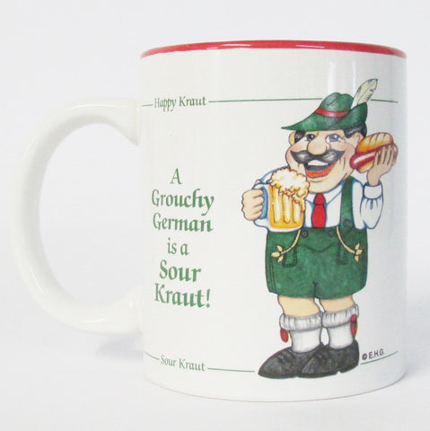 Grouchy German Coffee Mug Red