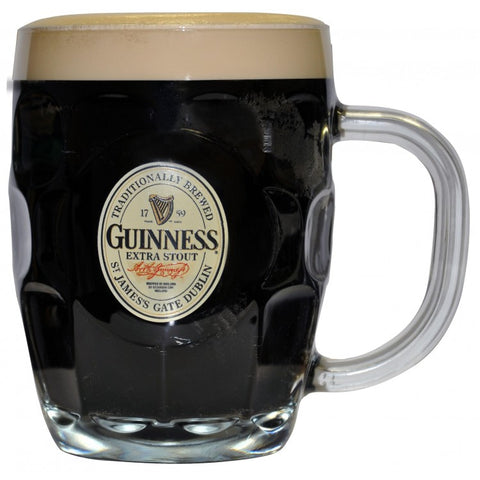 Guinness Label Dimpled Beer Mug Tankard