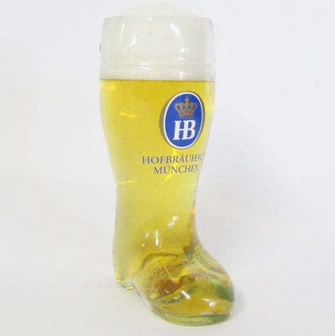 .5L Authentic German Beer Boot - HB Hofbrauhaus Beer Label