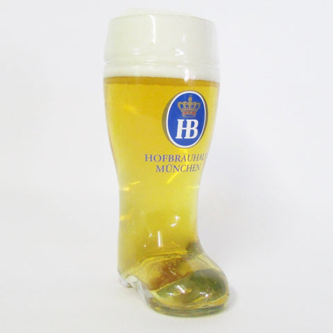 1L Authentic German Beer Boot - HB Hofbrauhaus Label