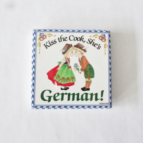 Kiss the German Cook Tile Magnet