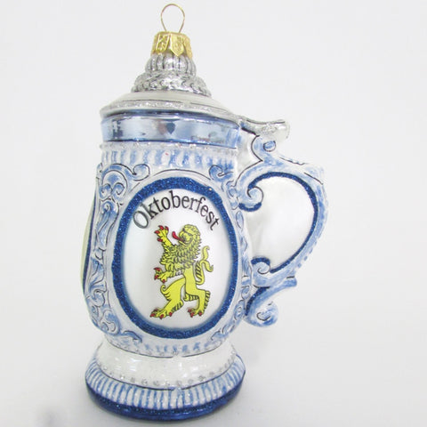 Oktoberfest German Beer Stein - Blown Glass Ornament