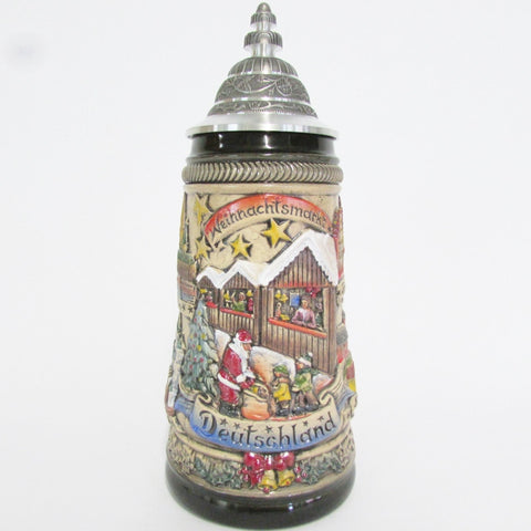 Germany Christmas Market Rustic .5L Beer Stein