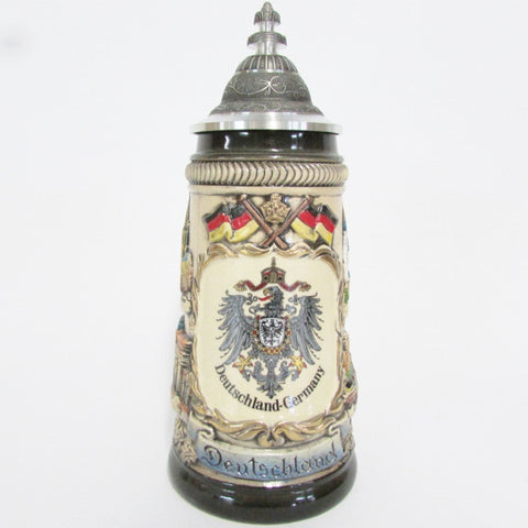German Imperial Eagle Rustic .25L Beer Stein