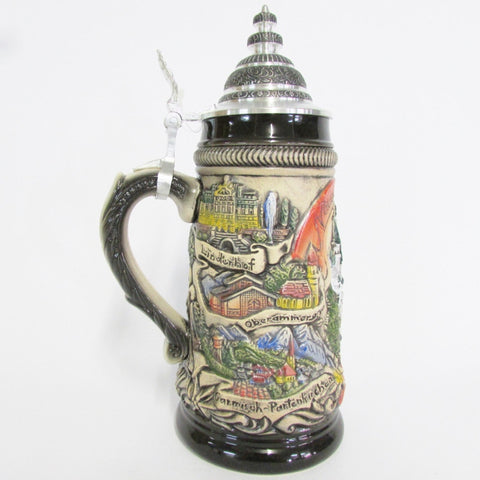 Panoramic Neuschwanstein German Rustic .5L Beer Stein