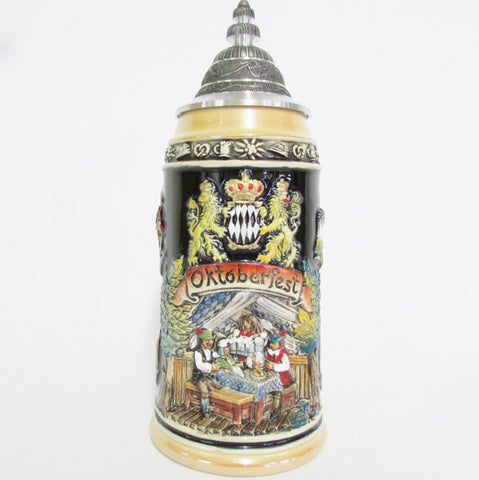 Oktoberfest Bier (Beer) and Brats German 1L Beer Stein