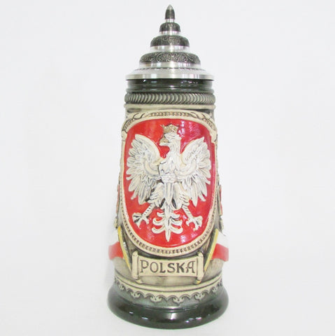 Polish Eagle Poland Rustic .5L Beer Stein