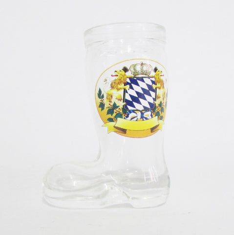 Bayern Crest German Beer Boot Shot Glass