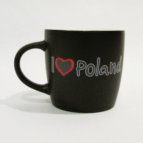 I Love Poland_Black Matte Coffee Cup Mug