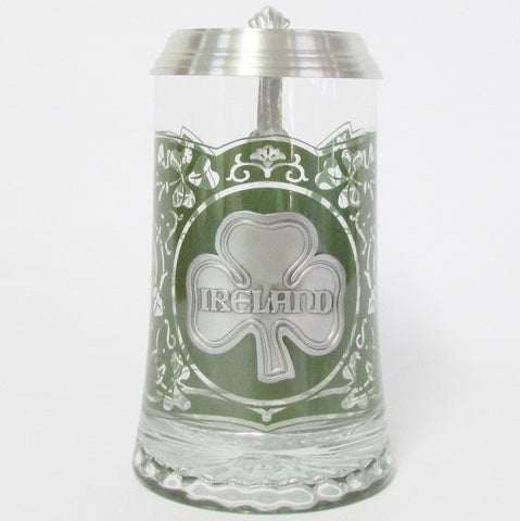 Ireland .5L Glass Beer Stein