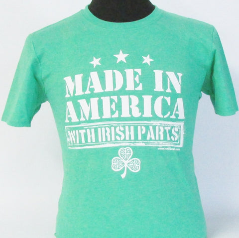 Made in America with Irish Parts Heather Irish Green T-Shirt