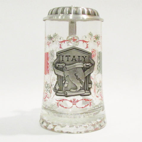 Italy .5L Glass Beer Stein