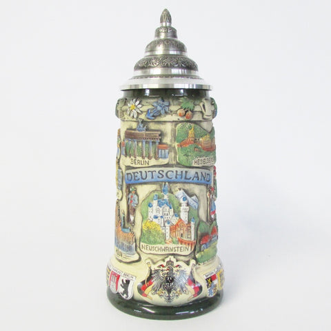 Deutschland Germany Rustic .75L Beer Stein