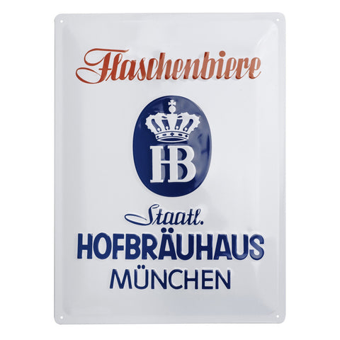 Hofbrauhaus Metal Home Bar Sign