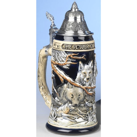 Power of the Wolf Pack .75L Beer Stein