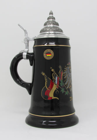 Deutschland German Eagle and Flag Crest .5L Beer Stein