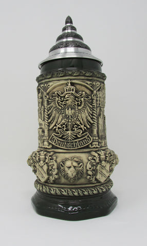 Medieval Deutschland Eagle Natural .75L Octagon Beer Stein