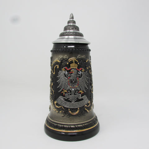 Pewter Relief Old Germany .5L Beer Stein