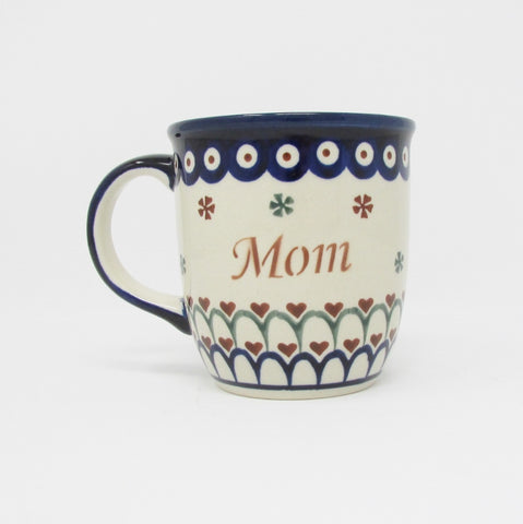 Mama_Mom Coffee Cup Mug_Polish Pottery
