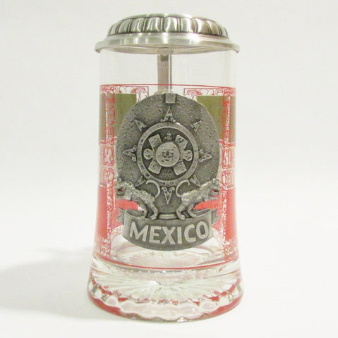 Mexico .5L Glass Beer Stein