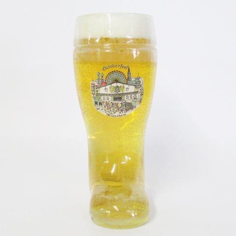 1L Authentic German Glass Beer Boot - Oktoberfest