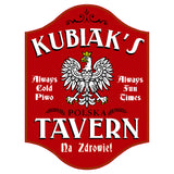 Polish_Poland Eagle Tavern Personalized Home Bar Sign