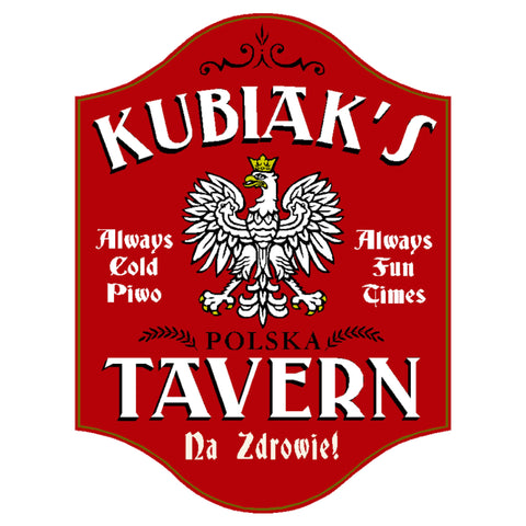 Poland Polish Eagle Tavern Personalized Bar Sign 4620 Home Bar Sign