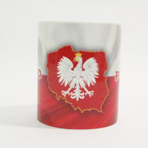 Poland Polska Waving Flag Eagle_Red Coffee Cup Mug