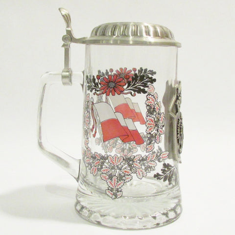 Poland Heritage .5L Glass Beer Stein