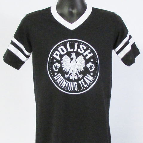 Polish Drinking Team Jersey T-Shirt_Black