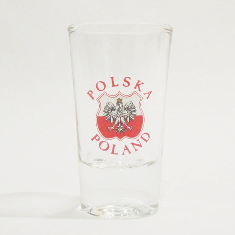 Polish Eagle Shield Shot Glass_Clear